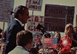 Image of Richard Nixon speaks to automobile workers during energy crisis Saginaw Michigan USA, 1974, second 14 stock footage video 65675073721