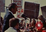 Image of Richard Nixon speaks to automobile workers during energy crisis Saginaw Michigan USA, 1974, second 15 stock footage video 65675073721