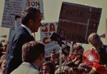 Image of Richard Nixon speaks to automobile workers during energy crisis Saginaw Michigan USA, 1974, second 16 stock footage video 65675073721