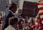 Image of Richard Nixon speaks to automobile workers during energy crisis Saginaw Michigan USA, 1974, second 17 stock footage video 65675073721