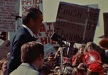 Image of Richard Nixon speaks to automobile workers during energy crisis Saginaw Michigan USA, 1974, second 18 stock footage video 65675073721