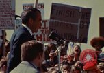 Image of Richard Nixon speaks to automobile workers during energy crisis Saginaw Michigan USA, 1974, second 19 stock footage video 65675073721