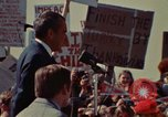 Image of Richard Nixon speaks to automobile workers during energy crisis Saginaw Michigan USA, 1974, second 20 stock footage video 65675073721