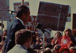 Image of Richard Nixon speaks to automobile workers during energy crisis Saginaw Michigan USA, 1974, second 21 stock footage video 65675073721