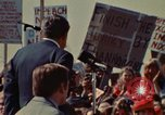 Image of Richard Nixon speaks to automobile workers during energy crisis Saginaw Michigan USA, 1974, second 22 stock footage video 65675073721