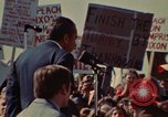 Image of Richard Nixon speaks to automobile workers during energy crisis Saginaw Michigan USA, 1974, second 23 stock footage video 65675073721