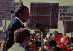 Image of Richard Nixon speaks to automobile workers during energy crisis Saginaw Michigan USA, 1974, second 24 stock footage video 65675073721
