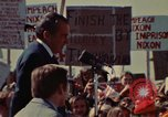 Image of Richard Nixon speaks to automobile workers during energy crisis Saginaw Michigan USA, 1974, second 25 stock footage video 65675073721