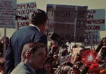 Image of Richard Nixon speaks to automobile workers during energy crisis Saginaw Michigan USA, 1974, second 27 stock footage video 65675073721