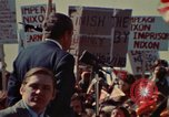 Image of Richard Nixon speaks to automobile workers during energy crisis Saginaw Michigan USA, 1974, second 28 stock footage video 65675073721