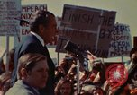 Image of Richard Nixon speaks to automobile workers during energy crisis Saginaw Michigan USA, 1974, second 30 stock footage video 65675073721
