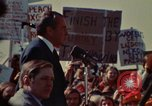 Image of Richard Nixon speaks to automobile workers during energy crisis Saginaw Michigan USA, 1974, second 31 stock footage video 65675073721