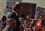 Image of Richard Nixon speaks to automobile workers during energy crisis Saginaw Michigan USA, 1974, second 32 stock footage video 65675073721