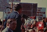 Image of Richard Nixon speaks to automobile workers during energy crisis Saginaw Michigan USA, 1974, second 33 stock footage video 65675073721