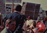 Image of Richard Nixon speaks to automobile workers during energy crisis Saginaw Michigan USA, 1974, second 34 stock footage video 65675073721
