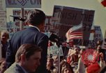 Image of Richard Nixon speaks to automobile workers during energy crisis Saginaw Michigan USA, 1974, second 35 stock footage video 65675073721