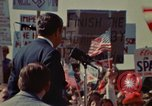 Image of Richard Nixon speaks to automobile workers during energy crisis Saginaw Michigan USA, 1974, second 36 stock footage video 65675073721
