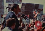 Image of Richard Nixon speaks to automobile workers during energy crisis Saginaw Michigan USA, 1974, second 37 stock footage video 65675073721
