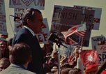 Image of Richard Nixon speaks to automobile workers during energy crisis Saginaw Michigan USA, 1974, second 38 stock footage video 65675073721