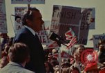 Image of Richard Nixon speaks to automobile workers during energy crisis Saginaw Michigan USA, 1974, second 39 stock footage video 65675073721
