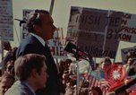 Image of Richard Nixon speaks to automobile workers during energy crisis Saginaw Michigan USA, 1974, second 40 stock footage video 65675073721