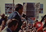 Image of Richard Nixon speaks to automobile workers during energy crisis Saginaw Michigan USA, 1974, second 41 stock footage video 65675073721