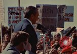Image of Richard Nixon speaks to automobile workers during energy crisis Saginaw Michigan USA, 1974, second 42 stock footage video 65675073721