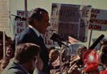 Image of Richard Nixon speaks to automobile workers during energy crisis Saginaw Michigan USA, 1974, second 43 stock footage video 65675073721