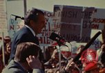 Image of Richard Nixon speaks to automobile workers during energy crisis Saginaw Michigan USA, 1974, second 44 stock footage video 65675073721