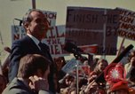 Image of Richard Nixon speaks to automobile workers during energy crisis Saginaw Michigan USA, 1974, second 45 stock footage video 65675073721