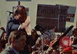 Image of Richard Nixon speaks to automobile workers during energy crisis Saginaw Michigan USA, 1974, second 46 stock footage video 65675073721
