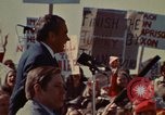 Image of Richard Nixon speaks to automobile workers during energy crisis Saginaw Michigan USA, 1974, second 47 stock footage video 65675073721