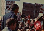 Image of Richard Nixon speaks to automobile workers during energy crisis Saginaw Michigan USA, 1974, second 49 stock footage video 65675073721