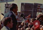 Image of Richard Nixon speaks to automobile workers during energy crisis Saginaw Michigan USA, 1974, second 50 stock footage video 65675073721