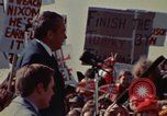 Image of Richard Nixon speaks to automobile workers during energy crisis Saginaw Michigan USA, 1974, second 52 stock footage video 65675073721