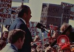 Image of Richard Nixon speaks to automobile workers during energy crisis Saginaw Michigan USA, 1974, second 53 stock footage video 65675073721