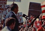 Image of Richard Nixon speaks to automobile workers during energy crisis Saginaw Michigan USA, 1974, second 55 stock footage video 65675073721