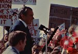 Image of Richard Nixon speaks to automobile workers during energy crisis Saginaw Michigan USA, 1974, second 57 stock footage video 65675073721