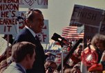 Image of Richard Nixon speaks to automobile workers during energy crisis Saginaw Michigan USA, 1974, second 58 stock footage video 65675073721