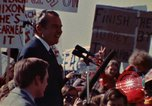 Image of Richard Nixon speaks to automobile workers during energy crisis Saginaw Michigan USA, 1974, second 59 stock footage video 65675073721