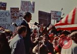 Image of Richard Nixon speaks to automobile workers during energy crisis Saginaw Michigan USA, 1974, second 60 stock footage video 65675073721