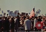 Image of Richard Nixon speaks to automobile workers during energy crisis Saginaw Michigan USA, 1974, second 62 stock footage video 65675073721