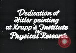 Image of painting of Adolf Hitler Germany, 1934, second 3 stock footage video 65675073852