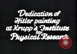 Image of painting of Adolf Hitler Germany, 1934, second 10 stock footage video 65675073852