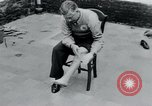 Image of prisoners of camp Belgium, 1945, second 4 stock footage video 65675073889