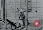 Image of prisoners of camp Hanover Germany, 1945, second 10 stock footage video 65675073890