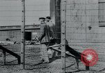 Image of prisoners of camp Hanover Germany, 1945, second 13 stock footage video 65675073890