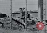 Image of prisoners of camp Hanover Germany, 1945, second 15 stock footage video 65675073890