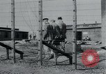 Image of prisoners of camp Hanover Germany, 1945, second 16 stock footage video 65675073890