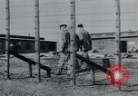 Image of prisoners of camp Hanover Germany, 1945, second 17 stock footage video 65675073890
